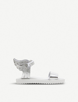 STEP2WO Madison wing metallic-leather sandals 5-11 years