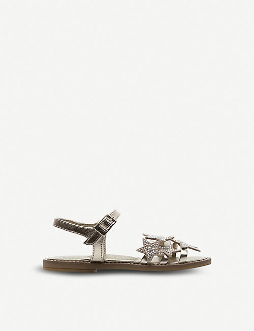 STEP2WO Universe diamanté-embellished leather sandals