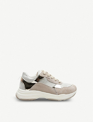 STEP2WO Elody leather and textile trainers