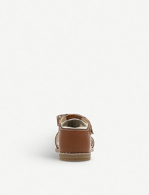 STEP2WO Frenchie star-appliqué leather sandals 1-5 years