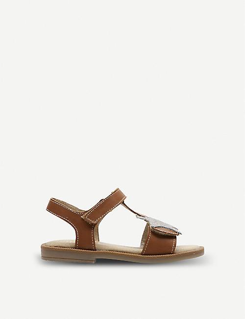 1ce4da9c3b5d STEP2WO Solar star-appliqué leather sandals 5-11 years