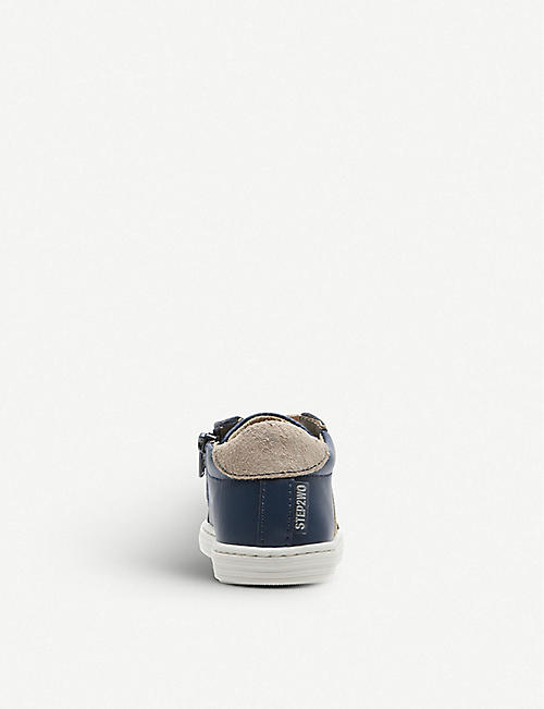 STEP2WO James contrast-trim leather trainers