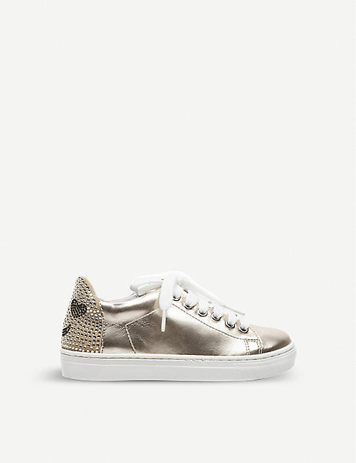 STEP2WO Sparkle diamante-embellished metallic trainers 6-10 years