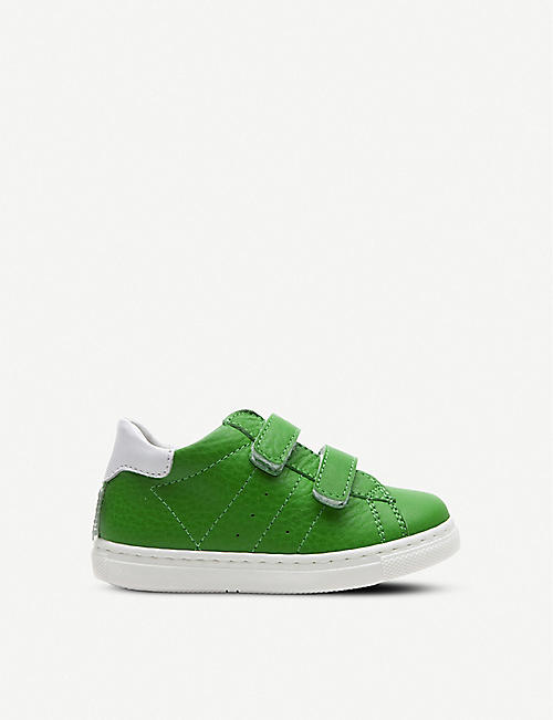 STEP2WO Zippie Velcro-strap leather trainers 2–5 years
