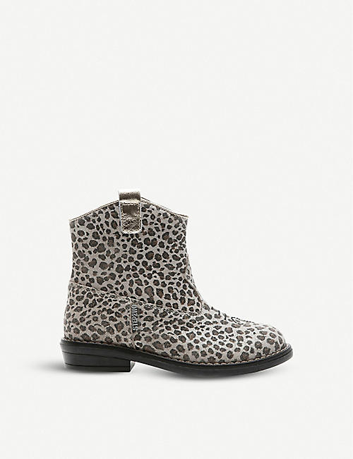 STEP2WO Wayne leopard print cowboy boots 3-5 years