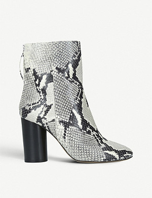ISABEL MARANT Garett snake-print leather ankle boots