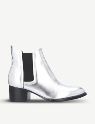RAG AND BONE Walker metallic leather heeled Chelsea boots