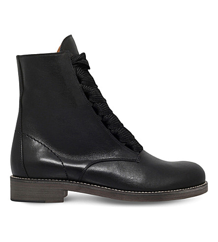 73c835ae30c CHLOE Harper leather ankle boots (Black