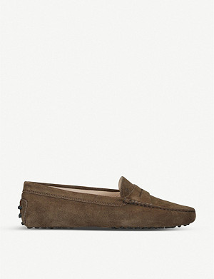 TODS Mocassino suede loafers