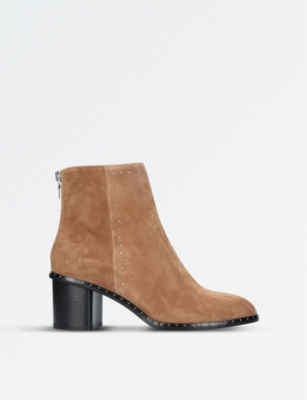 RAG AND BONE Willow micro-stud suede heeled ankle boots