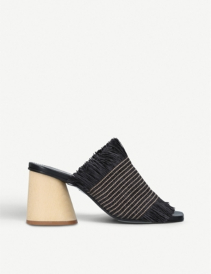 PROENZA SCHOULER Fray wood-heeled mules