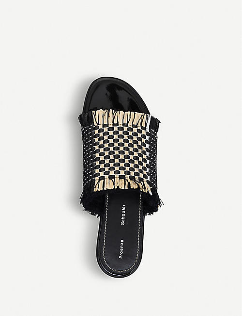 PROENZA SCHOULER Frayed leather sliders