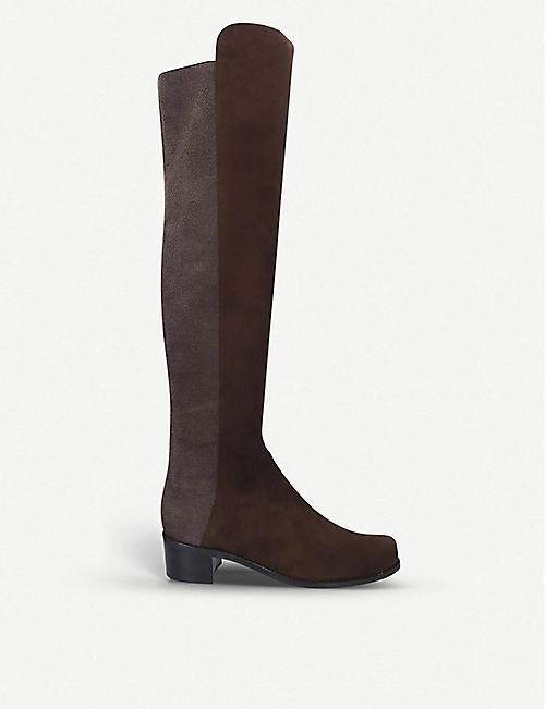 141c13b03 STUART WEITZMAN Reserve suede over-the-knee boots