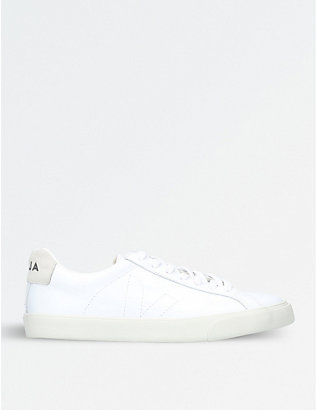VEJA: Esplar logo leather trainers