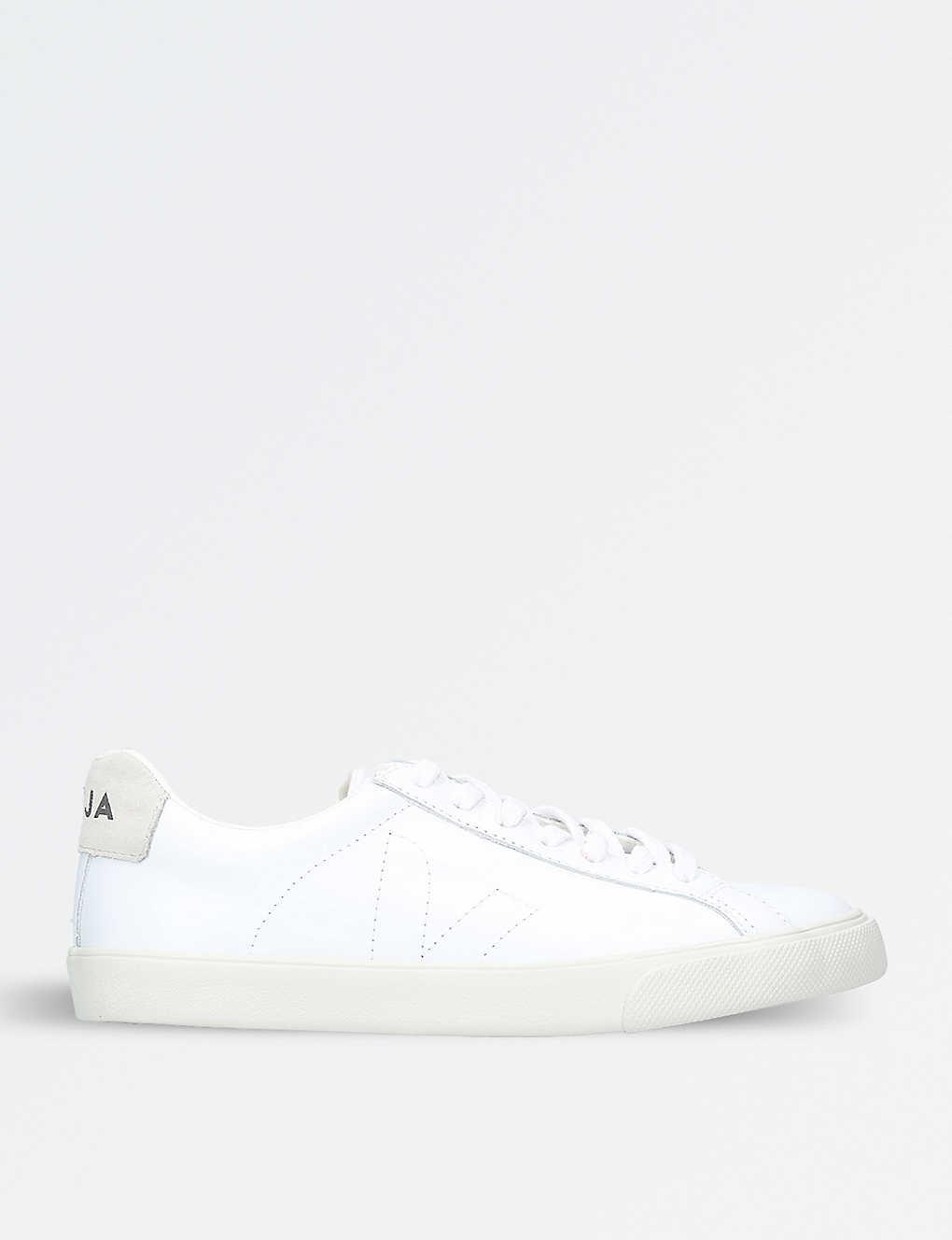Respecto a Etapa sanar  VEJA - Esplar logo leather trainers | Selfridges.com