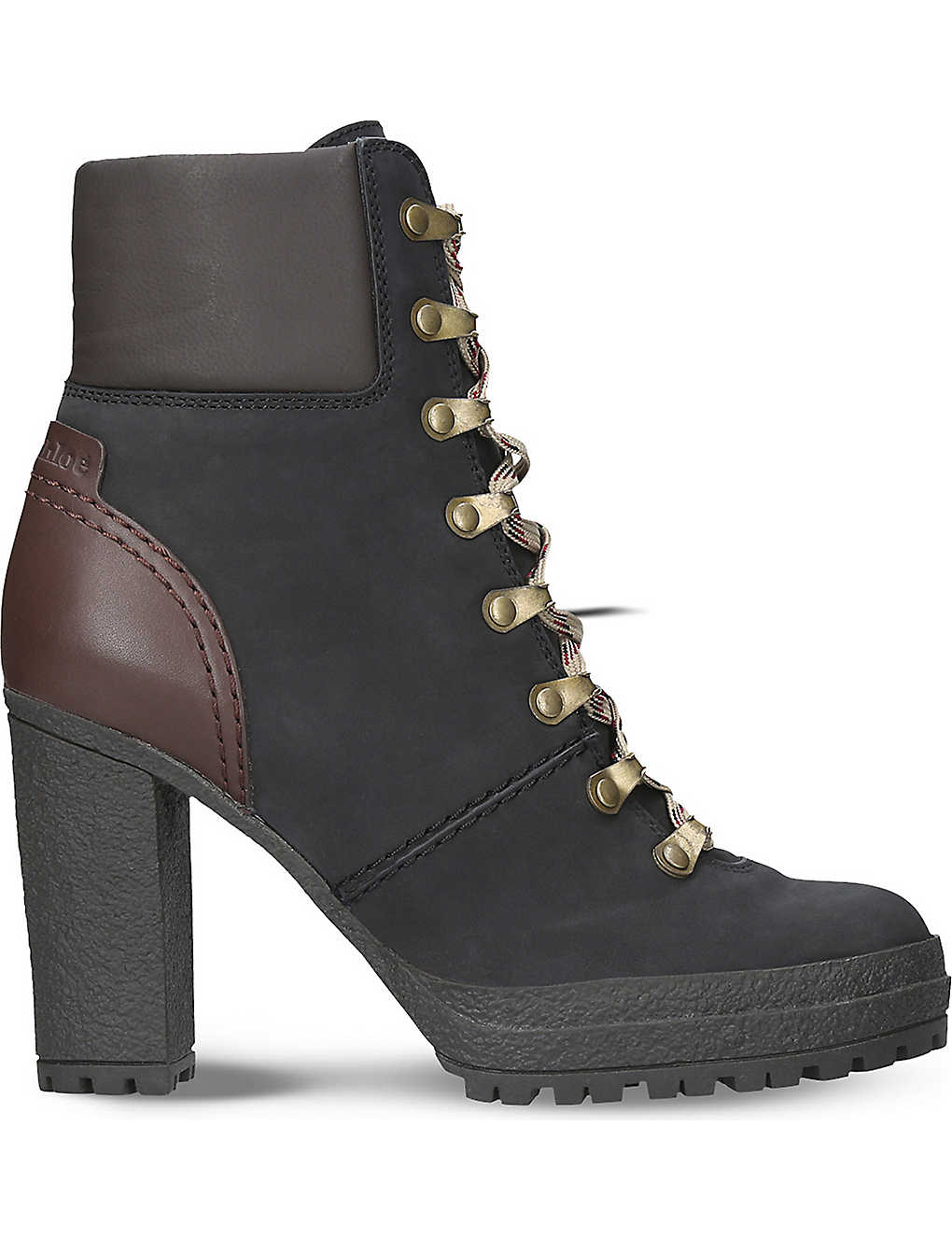 1450738263d4 SEE BY CHLOE - Eileen heeled leather hiking boots
