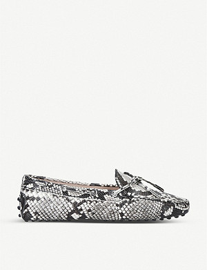 TODS Heaven snakeskin-embossed leather driving shoes