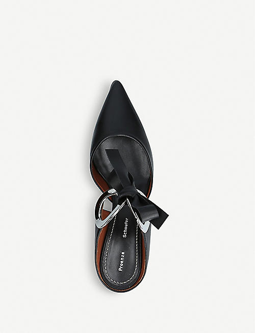 PROENZA SCHOULER Ring Tie leather heeled mules