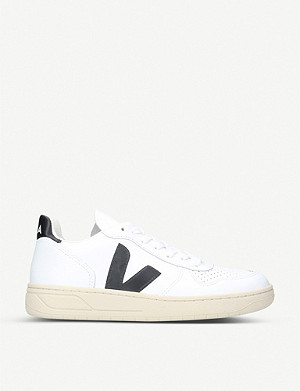 VEJA V-10 extra white leather trainers