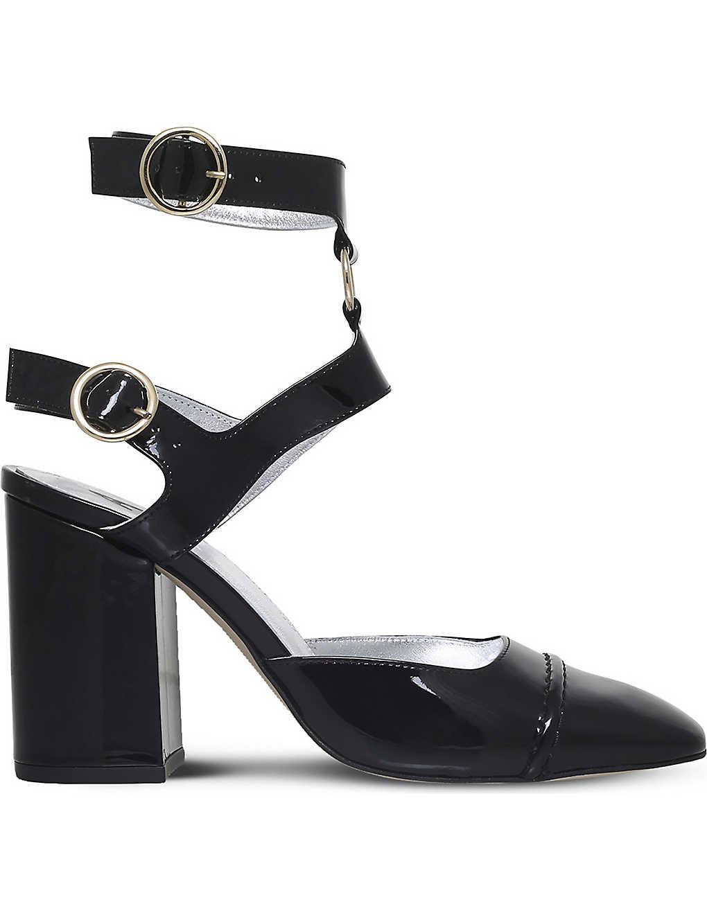 1acea1e83a ALEXA CHUNG - Ankle-strap patent-leather heeled pumps   Selfridges.com