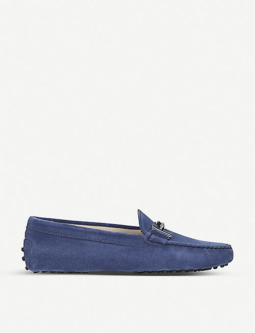 TODS Gommini Maxi Doppia suede loafers