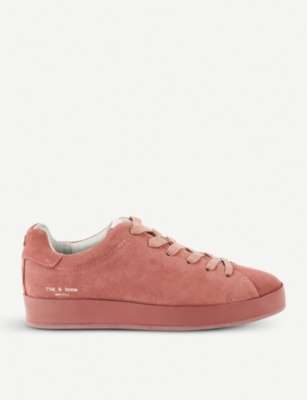 RAG AND BONE Rb1 suede low-top trainers