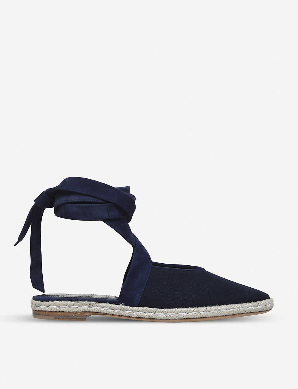 JW ANDERSON: Lace-up leather and canvas espadrille flats