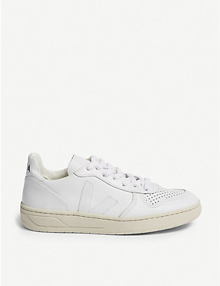 VEJA: V-10 leather trainers