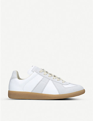 MAISON MARGIELA: Replica leather trainers