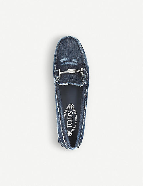 TODS Gommino denim loafers