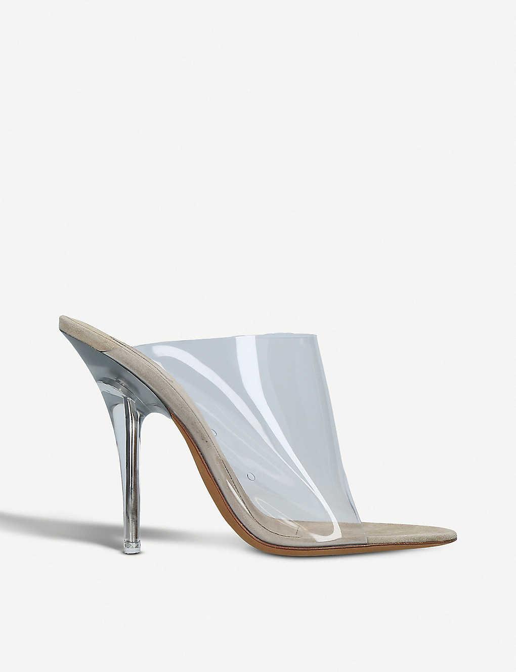 2cf05418b263f ... Season 6 PVC heeled mules zoom ...