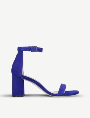 STUART WEITZMAN 75Lessnudist suede two-part sandals