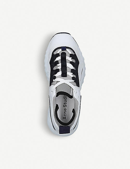 ACNE STUDIOS Manhattan leather trainers