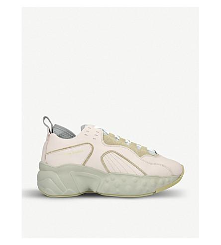 f6120276d88e ACNE STUDIOS Manhattan nappa leather sneakers (Pink+comb