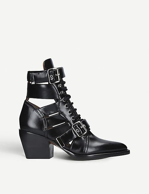 CHLOE Rylee 60 cut-out leather boots 8d337fcf3b