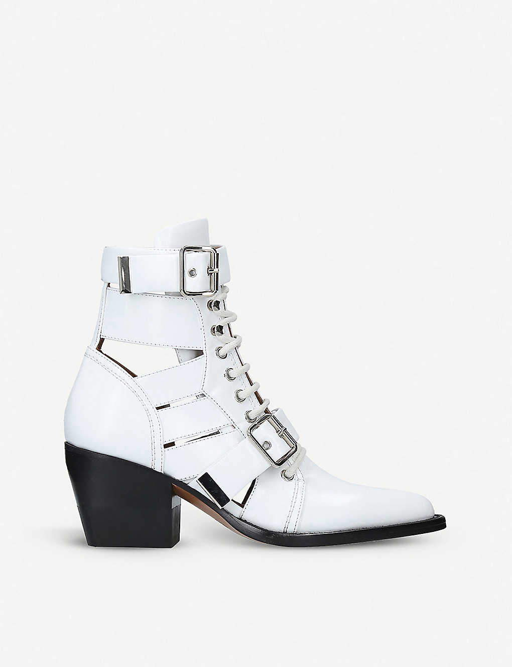 33599fdd9083e Rylee 60 leather ankle boots - White ...