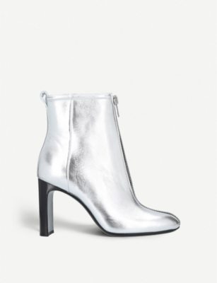 RAG AND BONE Ellis zip-front metallic-leather ankle boots