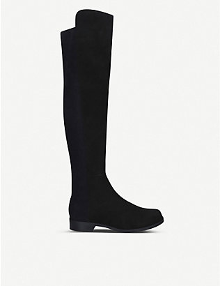 STUART WEITZMAN: 5050 suede heeled over-the-knee boots