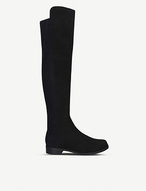 STUART WEITZMAN 5050 suede heeled over-the-knee boots