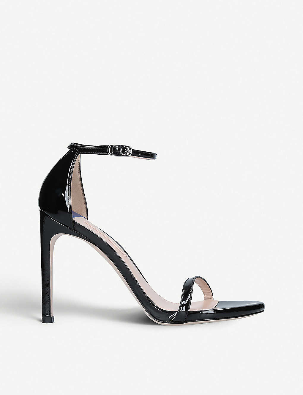 STUART WEITZMAN: Nudistsong 100 patent leather sandals