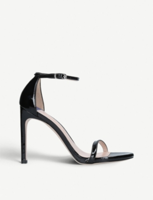 STUART WEITZMAN Nudistsong 100 patent leather sandals