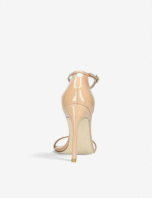 STUART WEITZMAN NudistSong patent-leather two-part sandals