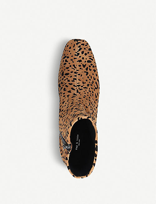 RAG AND BONE Aslen cheetah-print suede ankle boots