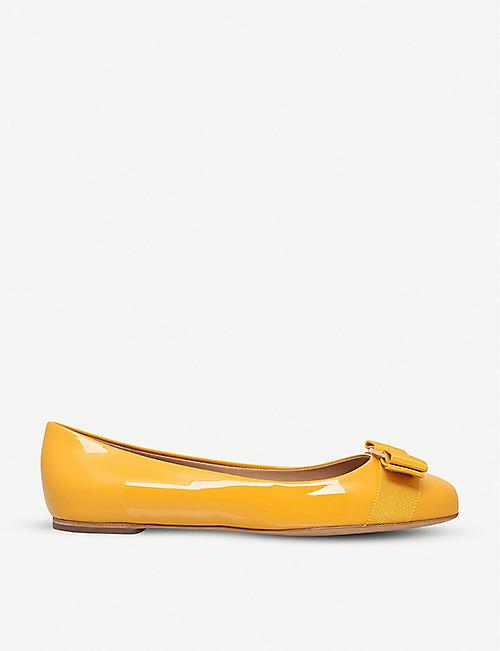 d27814cd443 SALVATORE FERRAGAMO Varina patent-leather ballet flats