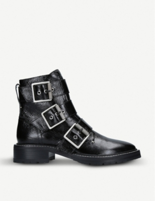 RAG AND BONE Cannon buckled leather ankle boots