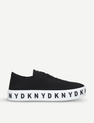DKNY Banson leather flatform trainers