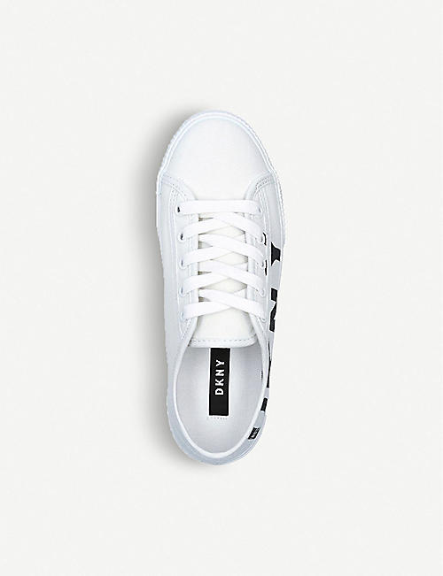 DKNY Doni canvas trainers
