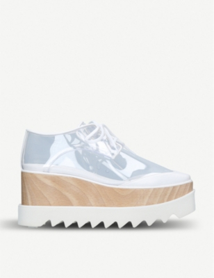 STELLA MCCARTNEY Elyse clear platform shoes