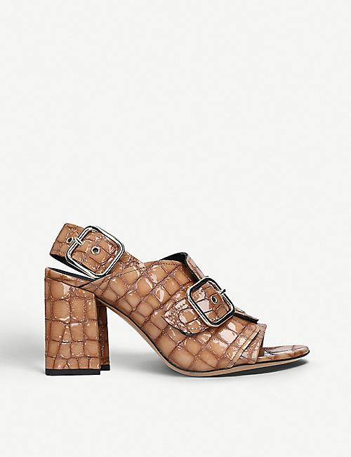 be8822ca4d38 DRIES VAN NOTEN Double-strap croc-embossed leather sandals