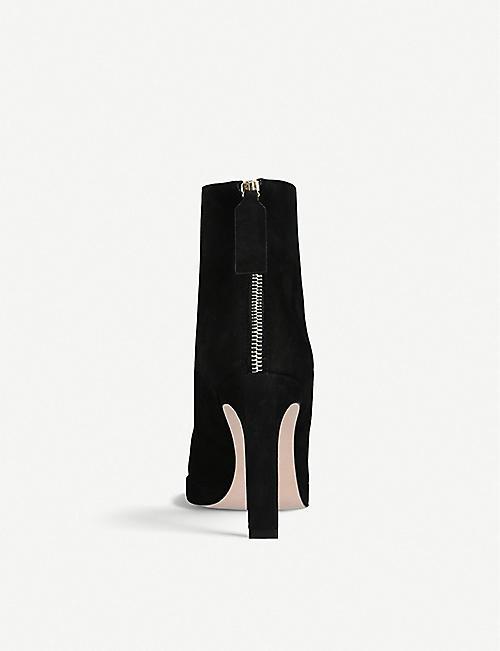 2e3225a0b453 STUART WEITZMAN Delphine suede ankle boots